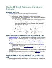 Business Statistics Reading Notes Chapters 12