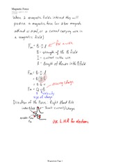PHYS 11 Magnetic Force Notes