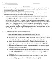 human trafficking informative speech outline Human trafficking outline speech essay 920 words apr 23rd, 2012 4 pages  show more ____kxxxxx vxxxxxx_____ ____april 05th, 2012_____  ____human.