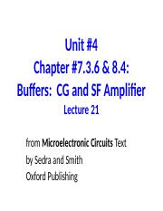 Unit 4 Lecture 22 BuffersCG_SFAmps.ppt