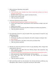 Soal Auditing Jawaban Docx 1 Bukti Pemeriksaan Dipandang Cukup Apabila A Kompeten B Telah Memenuhi Untuk Dijadikan Dasar Dalam Memberikan Pendapat Course Hero