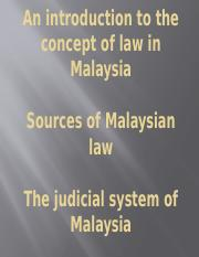 Lecture 1- Introduction to Law in Malaysia-1