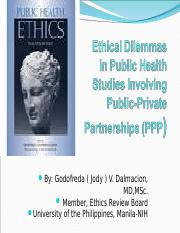 Ethical Dilemmas in Public Health Researches that have