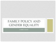 GESC2320 WK6 Public policy and gender inequality