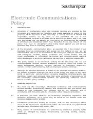 Electronic+Communications+Policy
