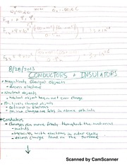 Notes on Conductors, Insulators, and Charge Distribution