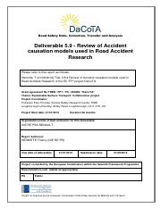 Hermitte 2012 Review of Accident Causation Models Used in Road Accident Research