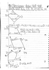 math classnote: Right Angles Math Problems