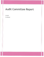 Committe Report Assignment