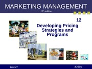 Chapter 12 Developing Pricing Strategies and Programs (Summer 2013)
