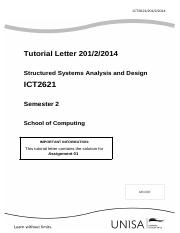 ICT2621_201_2014_2_b - Solution to Assignment 1 S2 2014