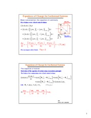 Isothermal Equations of Change