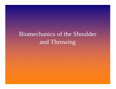 Overhead athlete shoulder mechanics