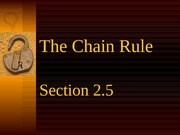 2.5 The Chain Rule