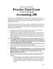 Final Practice Exam with answers