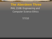 The Aberdeen Three