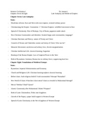 History 101 - Western Civilization I - Chapters 7 & 8 - Late Antiquity & Medieval Empires, Levack, N