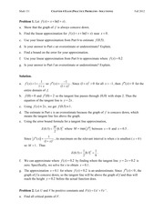 Exam 4 Practice Problems - Solutions