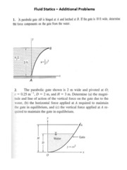 Assignment 2 - Fluid Statics Curved Surface Problems