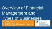 FIN 3403 - Module 1 - Chapters 1 and 2 - Overview - Student