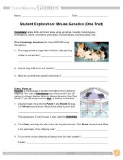 Mouse Genetics (One Trait) Gizmo _ ExploreLearning ...
