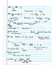 CHEMISTRY TRANSMITTANCE NOTES