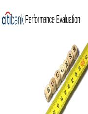 Citibank- Performance Evaluation