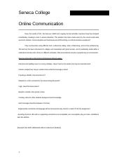 Online Communication Protocol