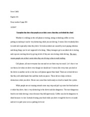 Healthy Foods Essay English  Essay   Steve Cifelli English  Essay Number  Page   Examples That Show That People Are At Their Worst When They Are Behind The Cause And Effect Essay Papers also Essay Proposal Examples English  Essay   Steve Cifelli English  Essay Number   Best English Essay