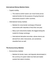 International Money Markets Notes