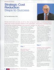 Strategic Cost Reduction-Steps to Success
