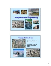 Profession of Transportation Engineering