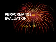 Chapter 18-Performance Evaluation