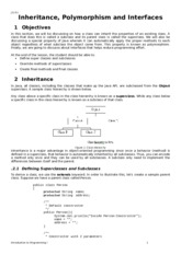 Notes8 Inheritance, Polymorphism, Interfaces