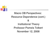 Lecture 17 Institutional Theory