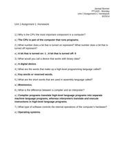 unit 1 assignment q a