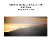 Lecture 9 Air Pollution