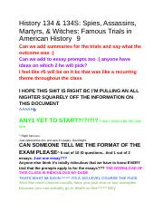 History 134 & 134S_ Spies, Assassins, Martyrs, & Witches_ Famous Trials in American History Final Ex
