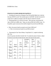 BUSN380 Week 4 TCO 5 Chap 13 Notes - Calculating Time Value of money & Rate of Return