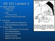 AS101 Lecture 3