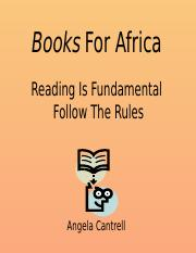 NPM 5006 Books For Africa Outline.pptx
