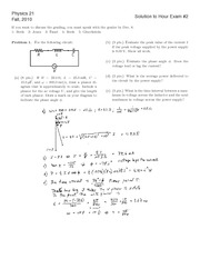 Fall 2010 Exam 2 Solutions