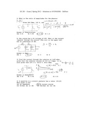 Exam2 Sp2012 Solutions