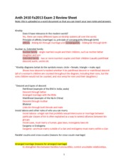 Anth2410 - Fa2013 - Exam 2 Review Sheet-2
