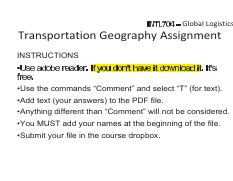 Transportation Geography Assignment F16+
