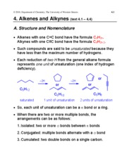 4. Alkenes and Alkynes
