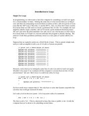AP Computer Science - Notes 5 - For Loops.docx