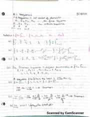 Math 151B Sequence And Series Notes