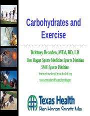 Carbohydrates and Exercise.pptx