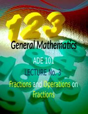 ADE Lecture-3